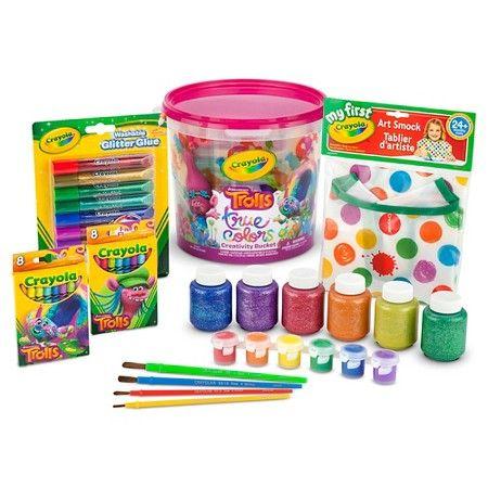 Crayola® Trolls True Colors Creativity Bucket : Target