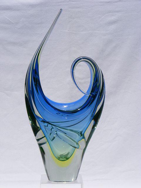 sculptural glass vase
