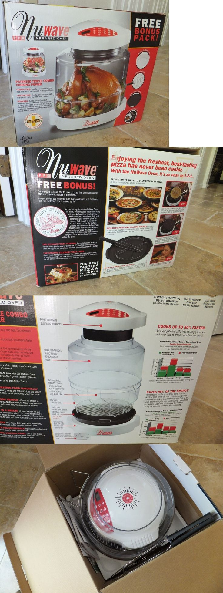 Infrared and Convection Ovens 150139: Nuwave Pro Infrared Oven With Pizza Baking Kit And Extender Ring New Unused -> BUY IT NOW ONLY: $83.99 on eBay!