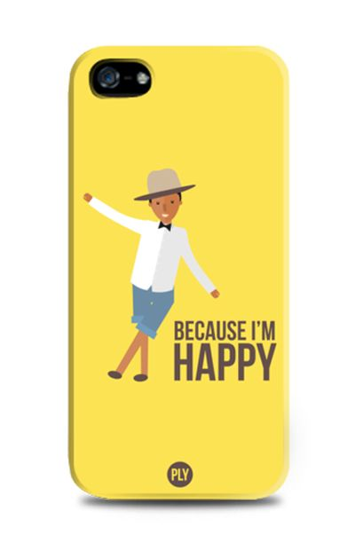Happy Yellow iPhone Case design by PLY for tees . for iPhone 4, 5 and 5c. Also available for samsung galaxy s3, s4 and samsung galaxy note 2, and 3. With yellow color this case will brighten up your day.  http://www.zocko.com/z/JH9JF