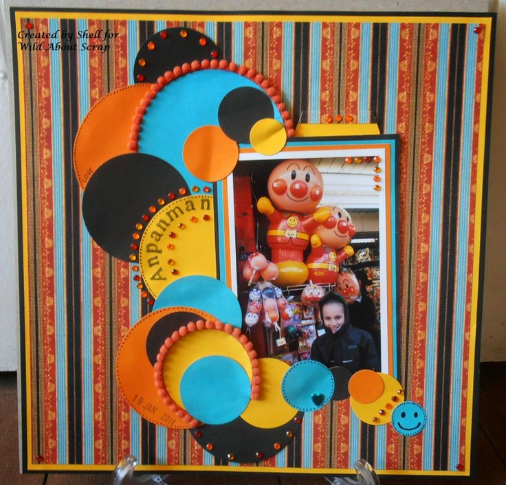 BaRb'n'ShEllcreations- Scrapbook Layout - Anpanman - made by Shell for Wild About Scrap