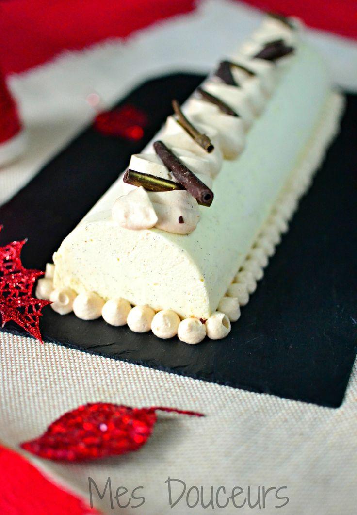 buche mousse chocolat blanc crémeux chocolat
