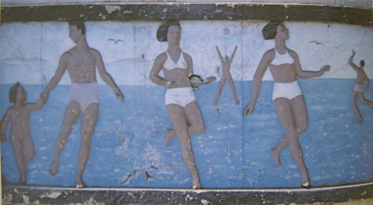 Süreyya plajı tren istasyonu duvar süslemeleri.1992 yılında yok edilmişle