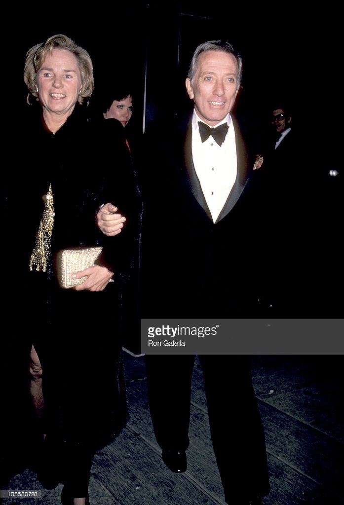 December 3, 1983: Ethel Kennedy and Andy Williams during dinner gala for the Kennedy Center honorees at the State Department.