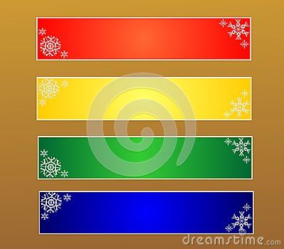 Christmas banners with snowflakes, vector illustration.   120X600px Banners
