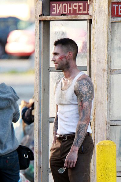 Adam Levine <3 Video shoot for Payphone! Can't wait!