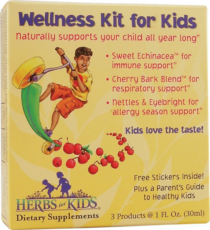 Herbs For Kids Wellness Kit for KidsFor Kids, Well Kits, Kids Well