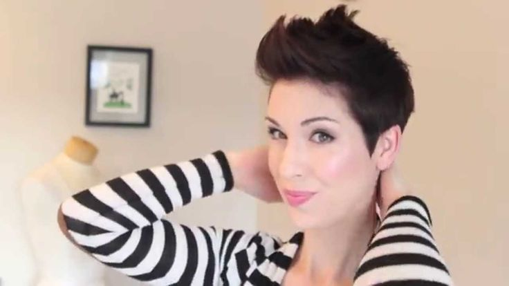 How to style a faux hawk on pixie hair