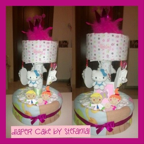 Diaper Cake by Stefania *facebook: Baby Gifts by Stefania