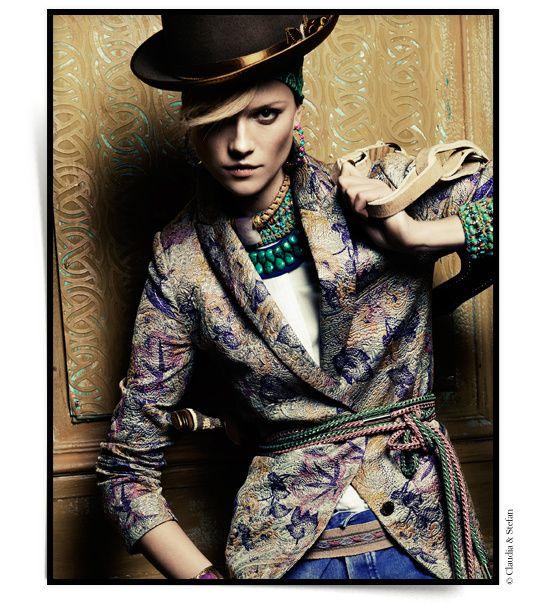 Folk Colors jewelry Peru Vogue Paris April 2013 issue