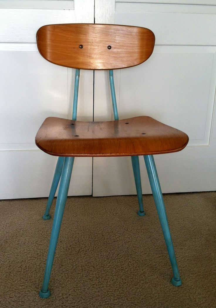 Vintage Wooden School Chairs
