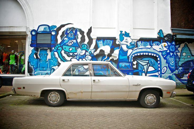 Rotterdam, old timer, centrum, blauw