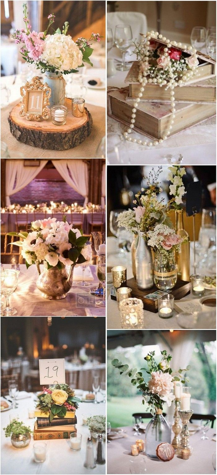 60 Adorable Vintage Wedding Ideas For 2018 Trends Emmalovesweddings Vintage Wedding Centerpieces Wedding Centerpieces Inexpensive Wedding Centerpieces