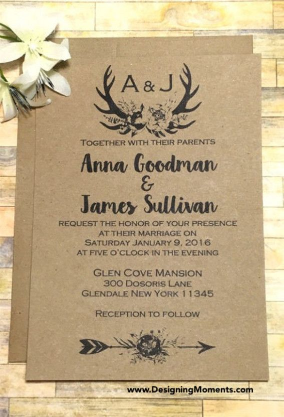 Wedding Invites Rustic Invitation Templates Country