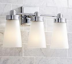 Mercer Triple Sconce With Images Bathroom Sconces