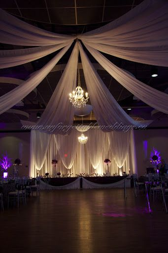 Ceiling Treatments With Chandelier Wedding Decor Weddingdecor Canada Unforgettableweddings