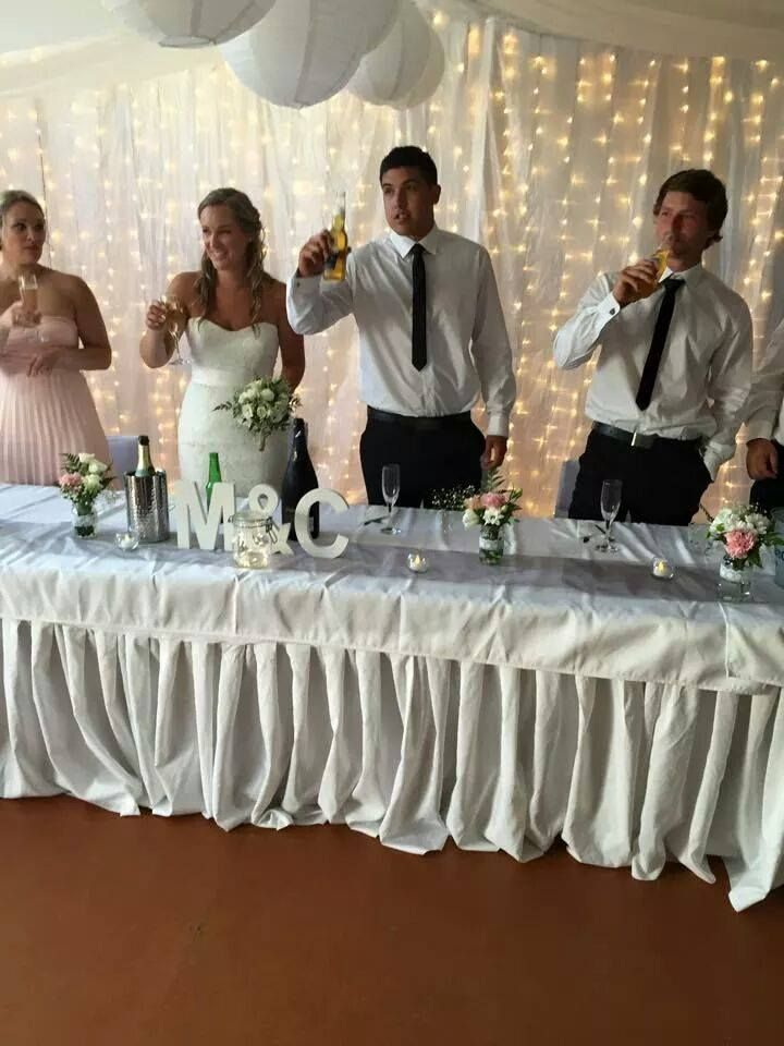 Wedding set up, draping, lighting, valance, linen and more! Hire from www.allureweddings.co.nz