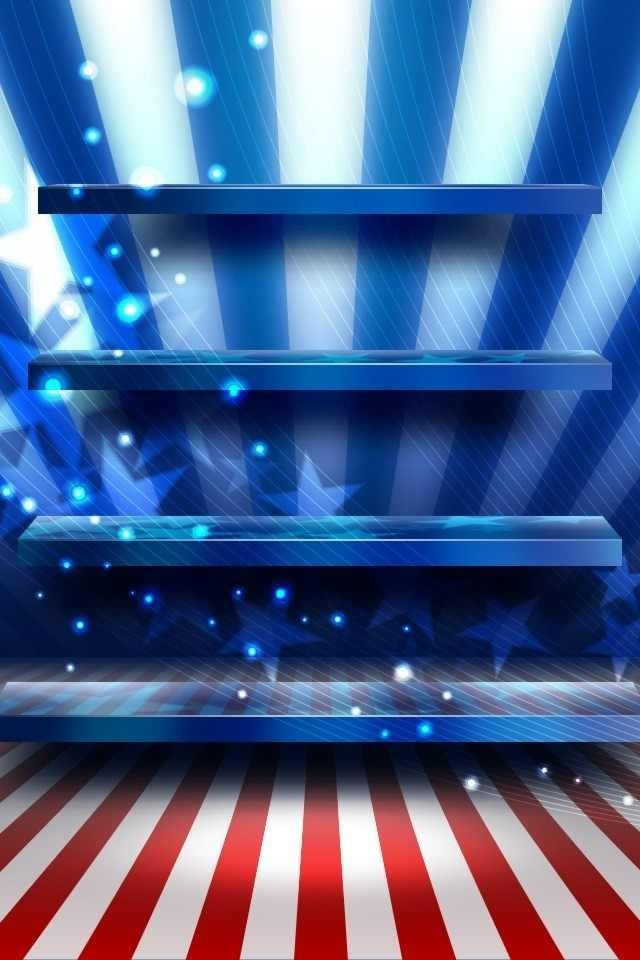 Red White Blue Stars Stripes Wallaper Background