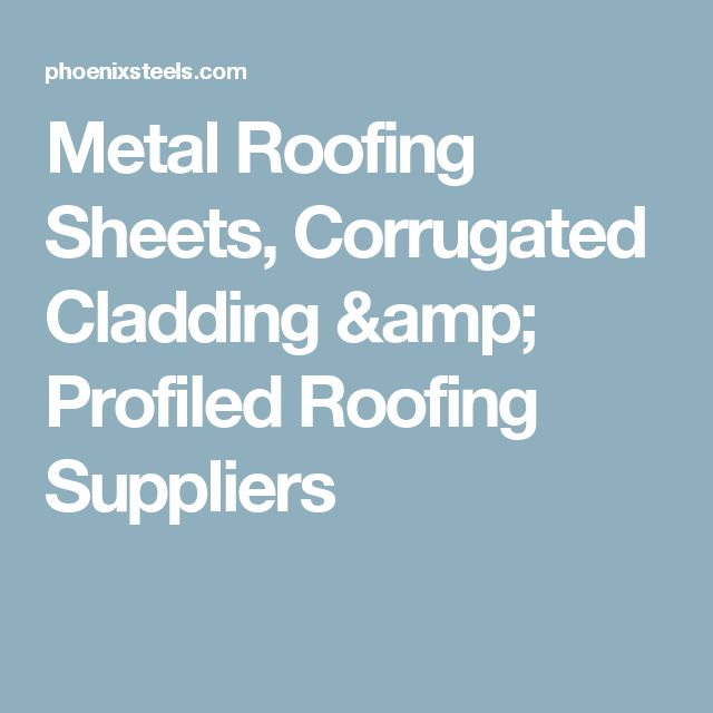 Metal Roofing Sheets, Corrugated Cladding amp; Profiled Roofing Suppliers