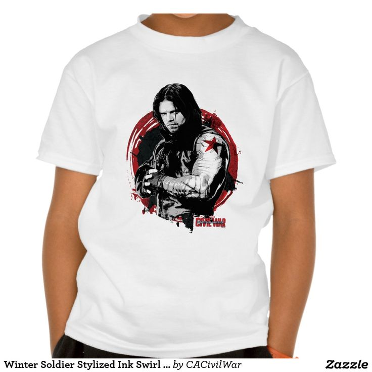Winter Soldier Stylized Ink Swirl Graphic Shirt. Regalos, Gifts. #camiseta #tshirt