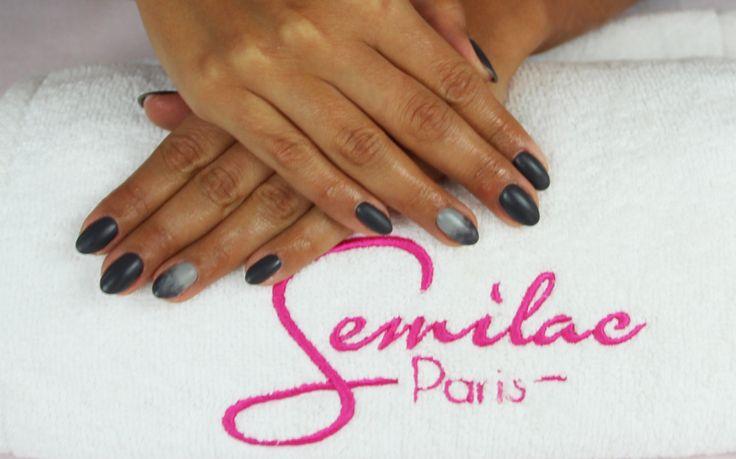 Mat nails #mat #grey #nails #manicure #semilac