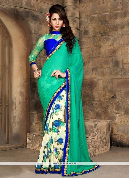 Shop Online for Vivel's Women's printed sarees are available with reasonable price in India at ladyindia.com