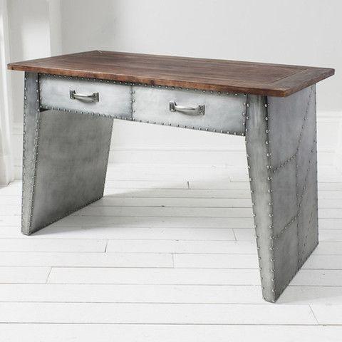 The Brunel Industrial Metal Console Desk