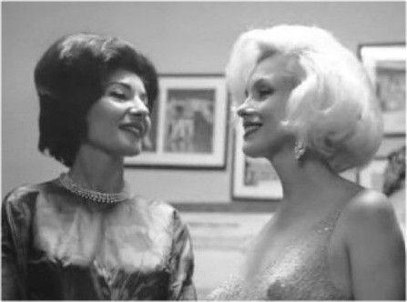 Marilyn with Maria Callas at JFK birthday party - May 19, 1962