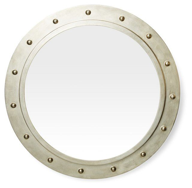 Porthole Mirror, Silver
