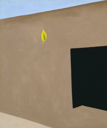 Patio Door with Green Leaf (1956), oil on canvas, Georgia O'Keeffe.