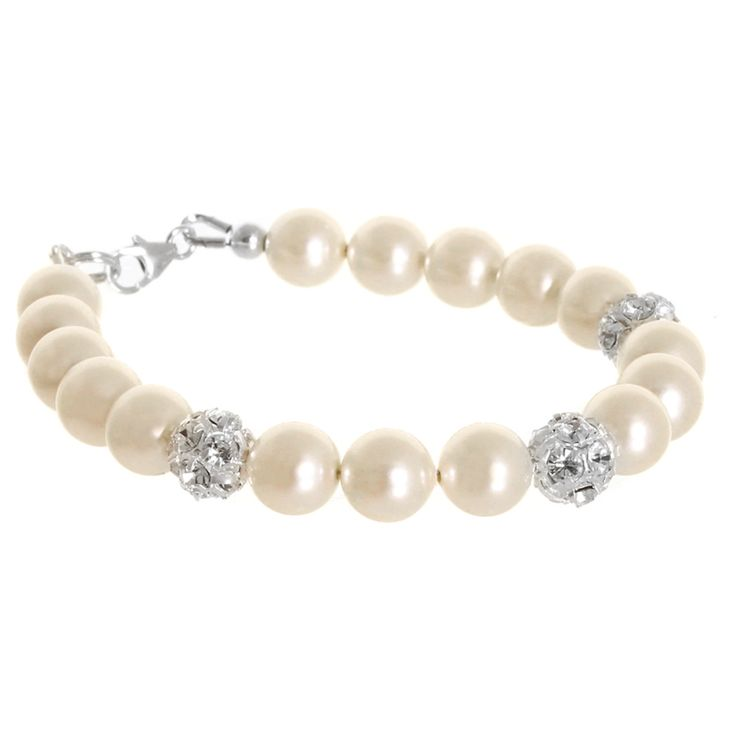 Hope bracelet - pearl and diamante bridal bracelet available from Lou Lou Belle Designs http://www.louloubelle.co.uk/bracelets_bridal.html