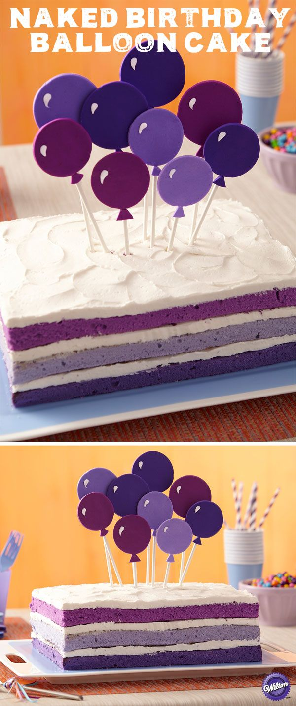 When you tint the batter using the Color Right Performance Color System, you have complete color control to create plum, lavender and deep violet cake layers you'll want to show off! Customize this birthday cake with the birthday girl or boy's favorite color and then top off the cake with high flying fondant balloons!