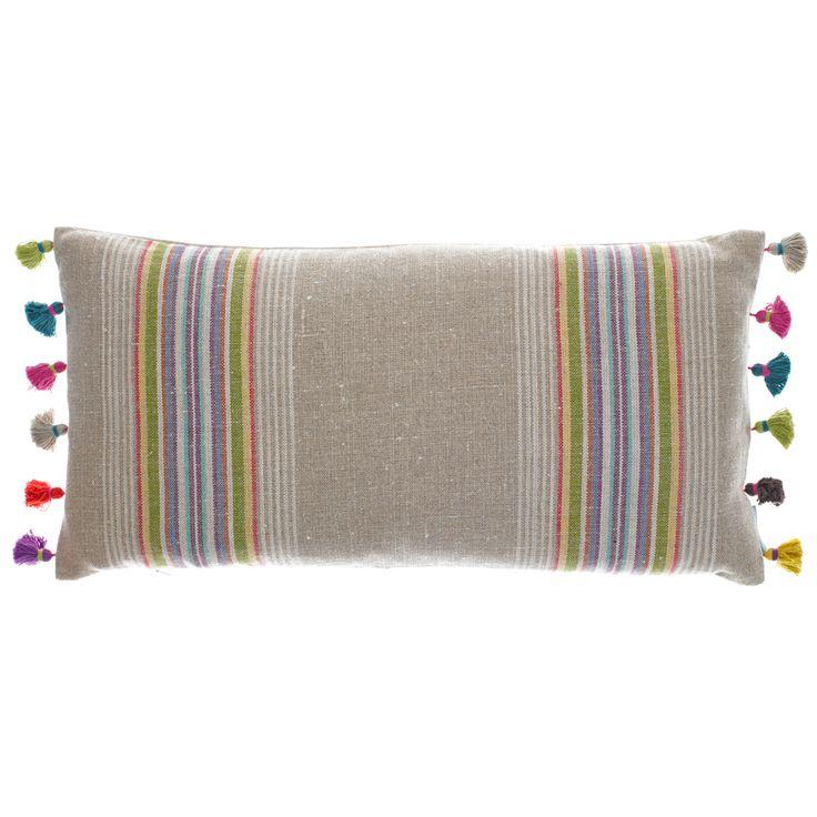 Kirkcaldy Tassel Cushion from Bluebellgray.com. A Scottish textile design company.