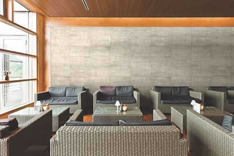"""This #WallTileWednesday brings an awakening to surface design with our Laminam Satori porcelain tile panels. From the Japanese word meaning enlightenment, Satori is an example of """"wabi-sabi,"""" the Japanese view on design that focuses on a mixture of perfection and imperfection."""