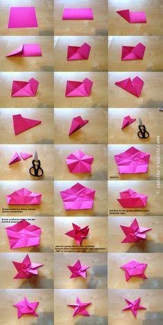 Anleitung für den Origami-Stern                                                                                                                                                      Mehr