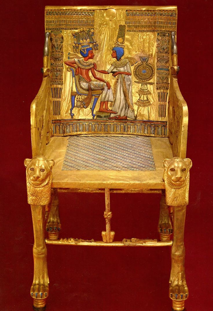 Hand carved amp upholstered chair late 1800 s grand rapids mi area - Tutankhamun S Gold Throne From Egypt S New Kingdom Period Bc 1323 Bc The Throne Was Carved Of Wood And Then Covered And Sealed In Gold