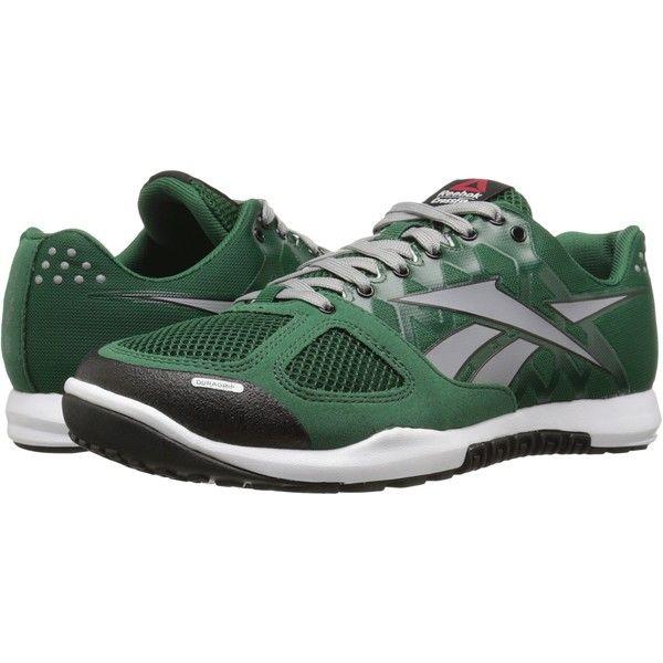 Reebok CrossFit Nano 2.0 (Dark Green/Flat Grey/White/Black) Men's... (1.055  ARS) ❤ liked on Polyvore featuring men's fashion, men's shoes, men's sn…