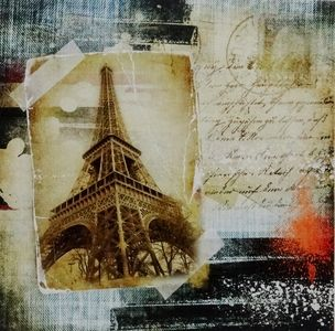 Paris Eiffel Tower Canvas Picture - $12.00. Available from http://www.wallartroad.com/small-art-pieces-under-15-00/ #wall #art #road #canvas