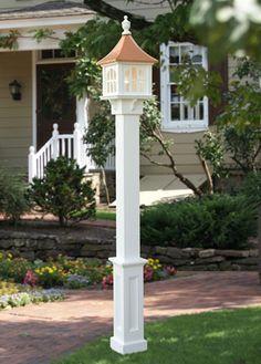 patio corner lamp posts - Google Search