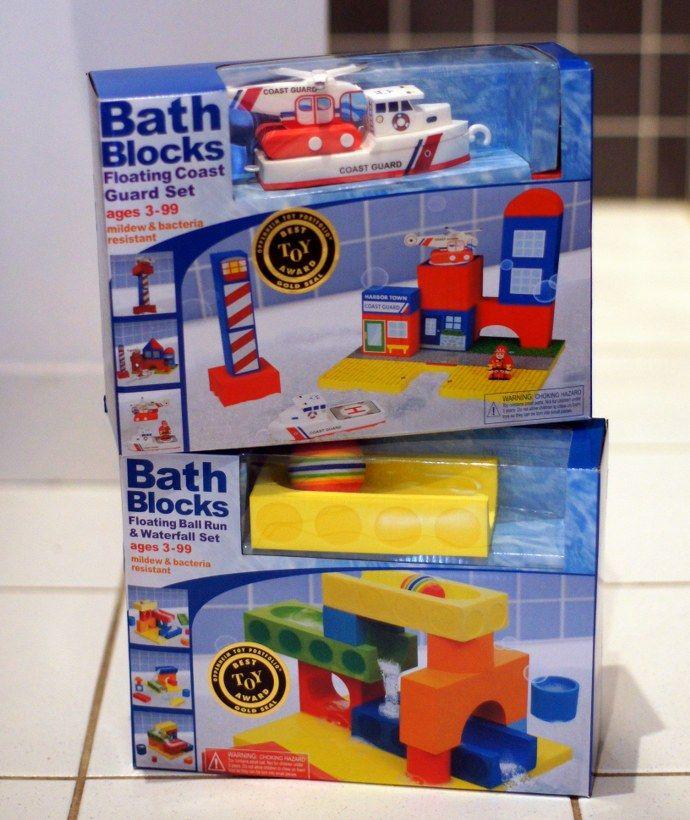 BathBlocks floating foam brick bath toys