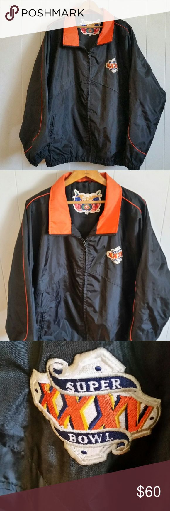 "XL Men Jeff Hamilton Super Bowl XXXV Jacket, XL Men Jeff Hamilton Super Bowl XXXV Jacket, Rain, Wind Tampa 2001  Arm Pit to Arm Pit 27"" and Length 29.5"" Jeff Hamilton Jackets & Coats Windbreakers"