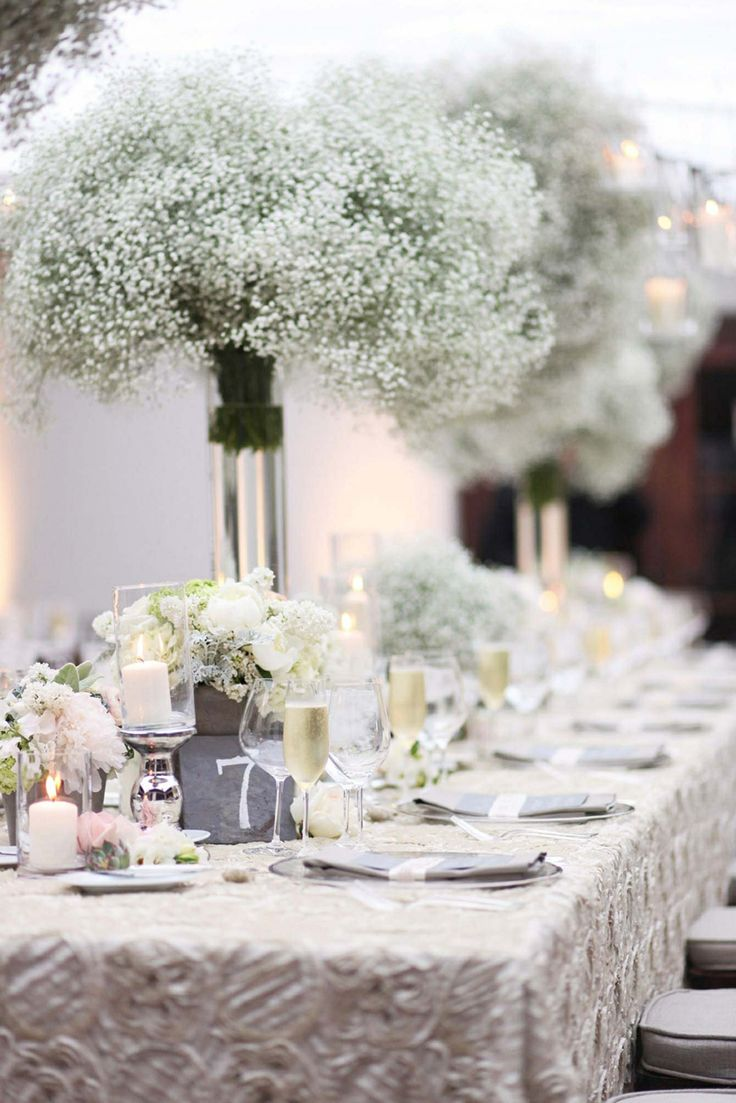 Floral ideas for the geusts tables