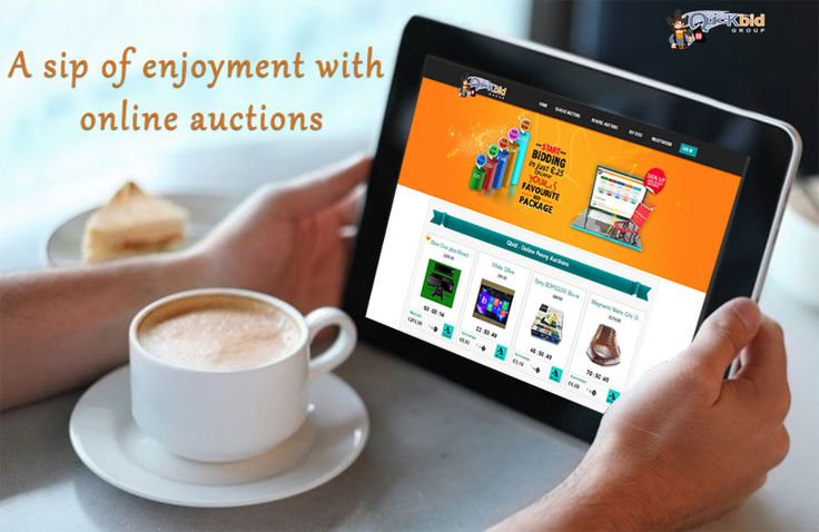 Win the items at the #online #auctions even at the #tea time.