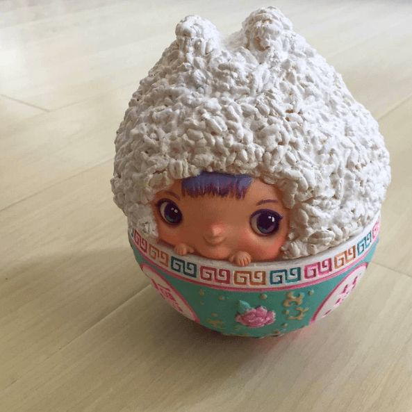The Little Rice Baby The Art Vinyl figure By Tik Ka x Unbox Industries