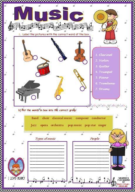 53 Free Music Worksheets