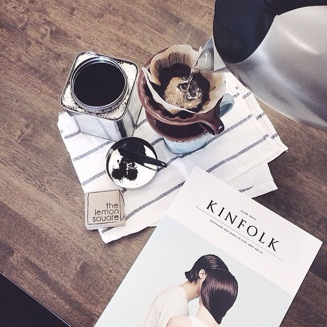 Perfect rainy day, The Lemon Square, a good coffee and a Kinfolk mag.
