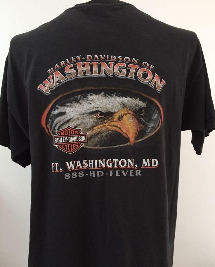 Harley Davidson Large Eagle T Shirt Ft Washington Maryland