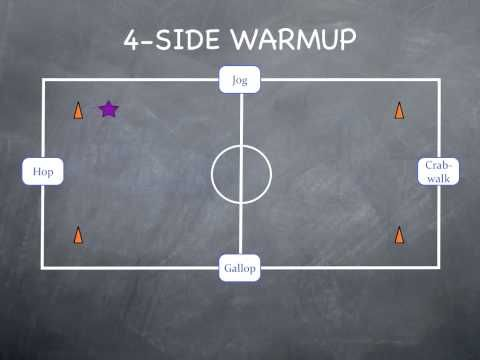 Physical Education Games - 4 Side Warmup - YouTube