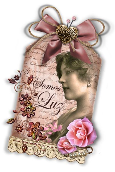 IMAGES FOR PERSONAL USE ONLY......................tag vintage con dama antigua y rosas
