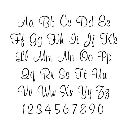 Script Letter And Number Stencil Sets Stencils Stencils Letter